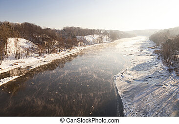 winter river , Belarus