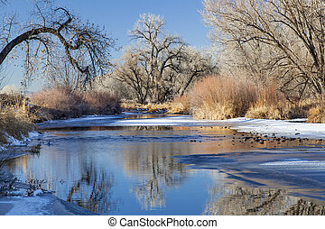 winter river in Colorado