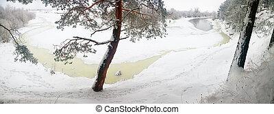 winter river,