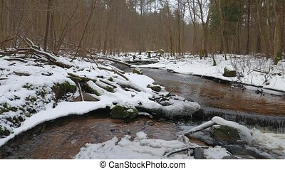 winter river panorama