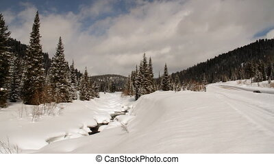 Winter river. - Winter river in a snow covered landscape.