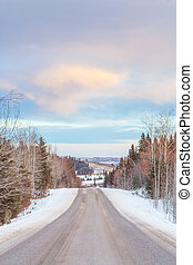 Winter Road in the Foothills