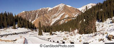 Winter road to the Big Almaty Lake