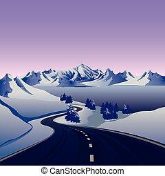 roa - winter road to the snow mountain