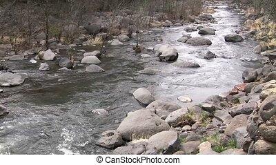 Oak Creek Arizona - Winter run off water Oak Creek Arizona