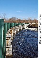 Winter runoff - Winter rains keep the Blackstone River...