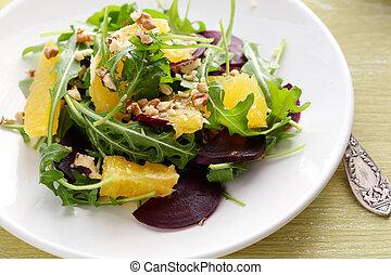 winter salad with orange