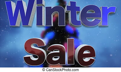 Winter Sale Background Loop - Winter Sale 3D Text Looping...