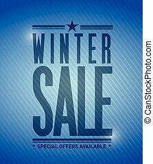 winter sale banner illustration design