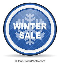 winter sale blue icon