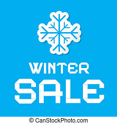 Winter Sale Blue Vector Background