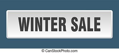 winter sale button. winter sale square white push button