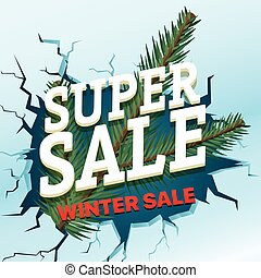 Winter sale concept. Shopping special offer template