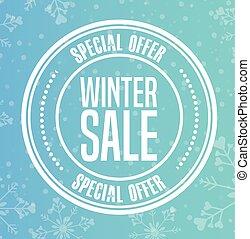 winter sale design, vector illustration eps10 graphic