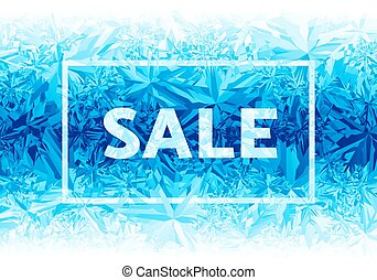 Winter sale. Eps8. RGB. Global colors. One editable gradient is used for easy recolor
