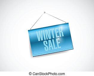 winter sale hanging banner illustration design