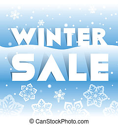 Winter sale poster, vector illustration
