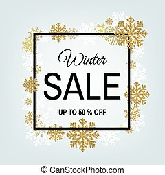 Winter Sale Poster With Frame