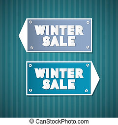 Winter Sale Retro Signs