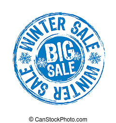 winter sale stamp isolated over white background. vector illustration