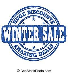 Winter sale stamp