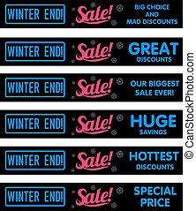 Winter sale sticker