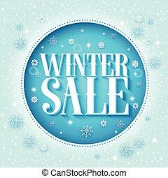 Winter sale vector design 3D text