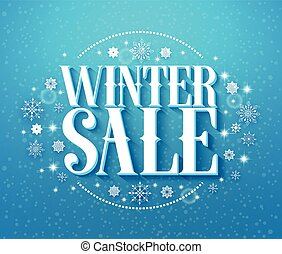 Winter sale vector illustration