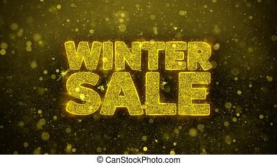 Winter Sale Wishes Greetings card, Invitation, Celebration Firework
