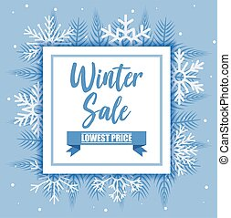 Winter sale with snowflakes vector design