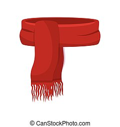 winter scarf clothes icon vector illustration design