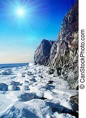 Winter Scene At The Sea