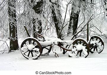 Winter Scene - Winter in the village