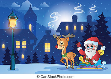 Winter scene with Christmas theme 6 - eps10 vector...