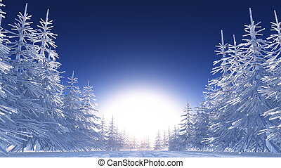 winter scenery - image of winter scenery