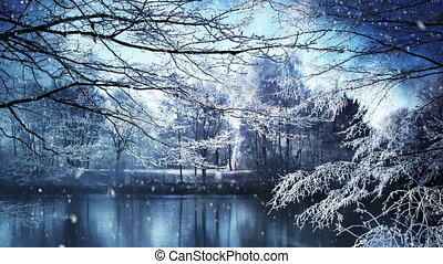 Winter Scenery - This video clip features a winter scenery...