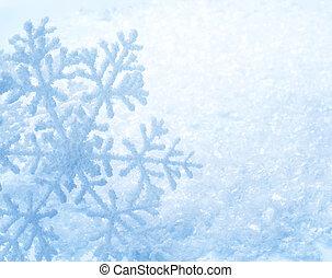 winter, schnee, hintergrund., schneeflocken