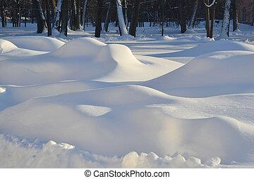 winter, schneewehen