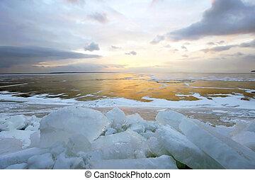 Winter sea.