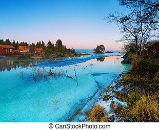 Winter sea landscape