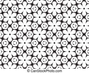 Winter seamless pattern of snowflakes with ice pieces