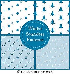 Winter Seamless Pattern.