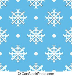Winter seamless pattern with crystallic snowflakes. Christmas background. Vector illustrationn eps 10