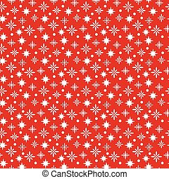 Winter seamless pattern with snowfl