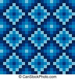 Winter seamless pixel pattern