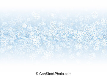 Winter Season Clear Blank Subtle Background In Ultra High Definition Quality. Frost Effect On Glass With Realistic Snowflakes Overlay On Light Blue Backdrop. Merry Christmas Snow Clean Decoration