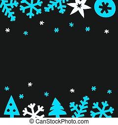 Winter season greeting card. Vector illustration