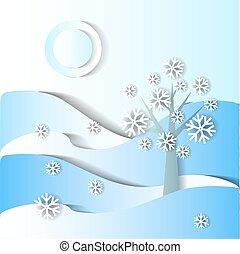 Winter season. vector stylized image