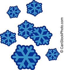 Winter set snowflakes
