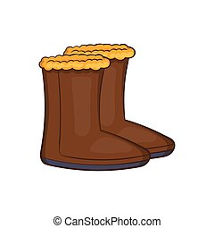 Winter shoes icon, cartoon style